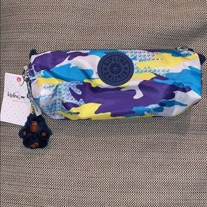 Kipling Freedom pencil case blue multicolored NWT